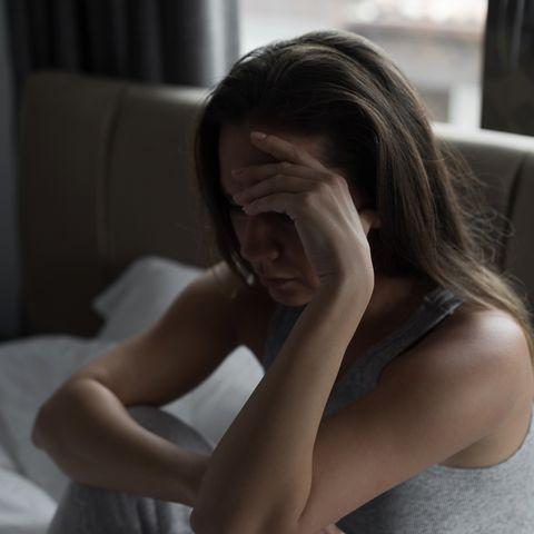 Sad woman suffering
