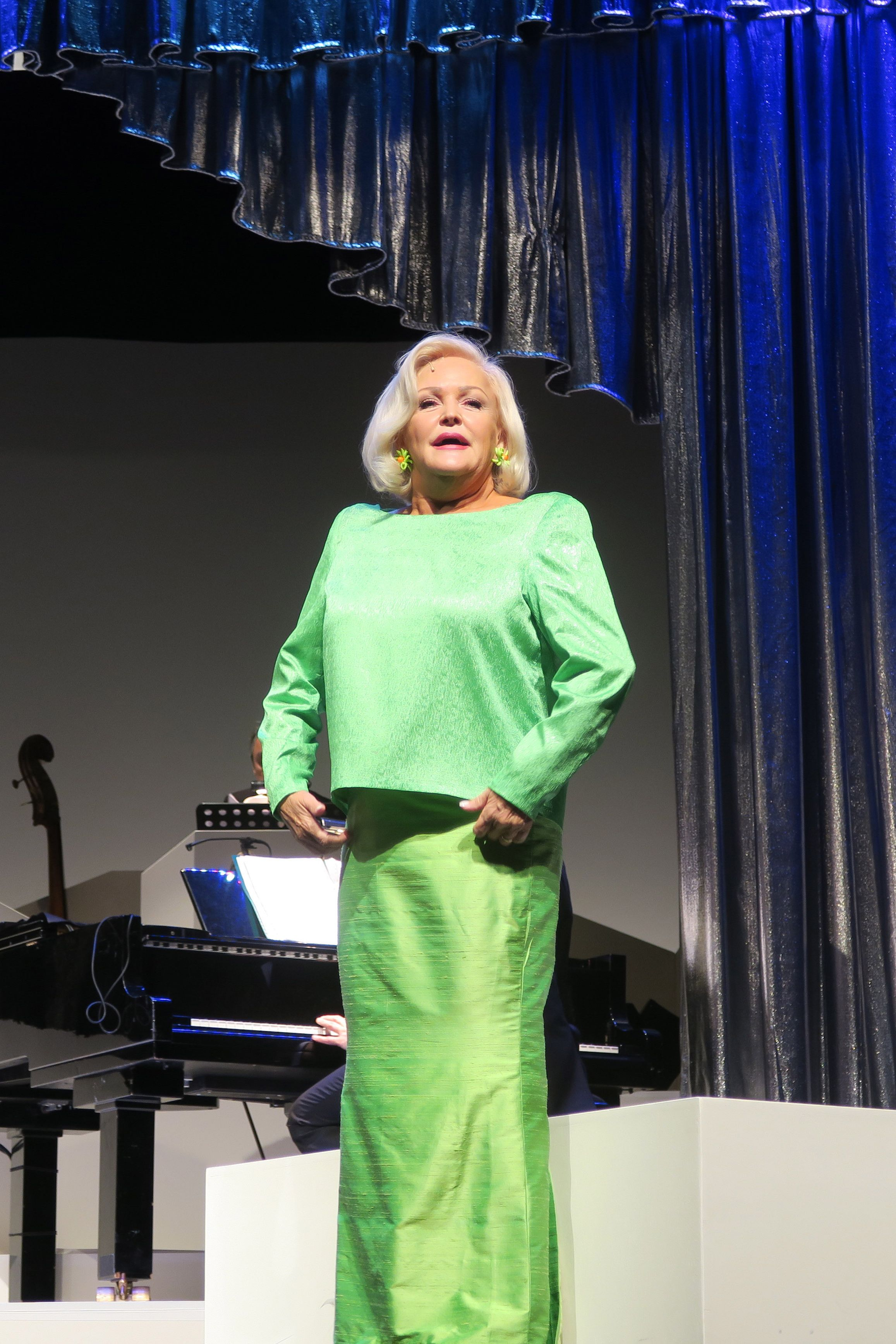 Sängerin Angelika Milster (DorisDay) aufgenommen bei Proben zu dem Musicaldrama Doris Day Day By Day im Schlosspark Theater in Berlin Steglitz. Regie führt Holger Hauer