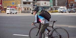 An urban cyclist in Japan