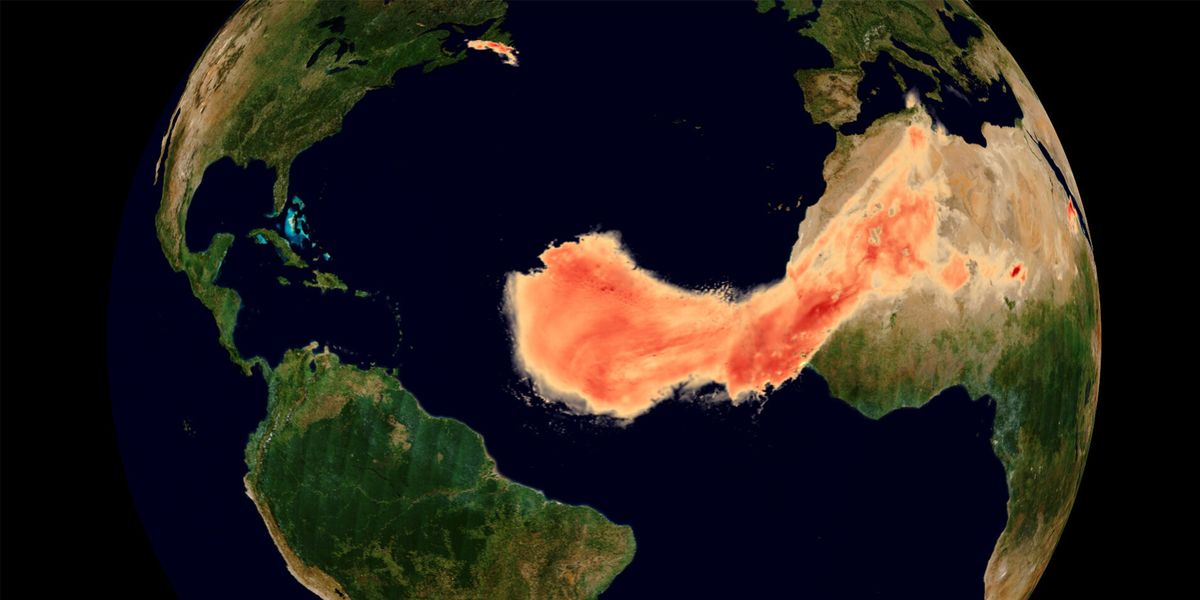 Stunning Satellite Images Show Just How Massive the Saharan Dust Plume Really Was