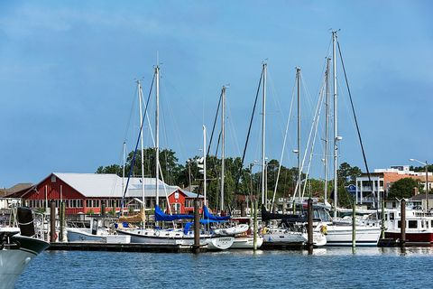 sailboats docked in cape charles harbor