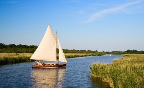 sailing boat, norfolk broads, uk