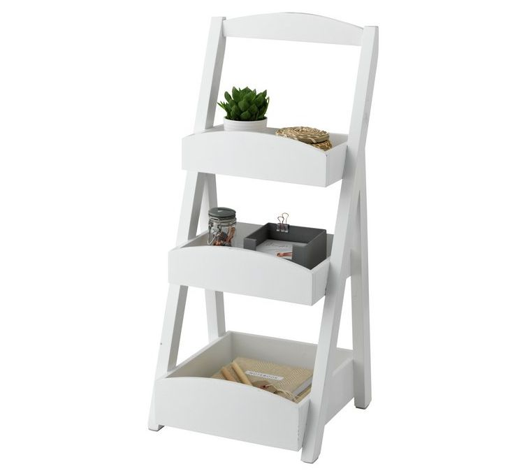 Sainsbury's Home 3 Tier Bathroom Shelves - White
