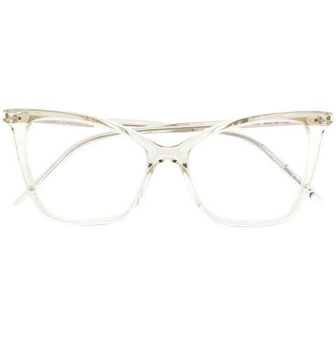 saint laurent sl386透明貓眼粗框眼鏡