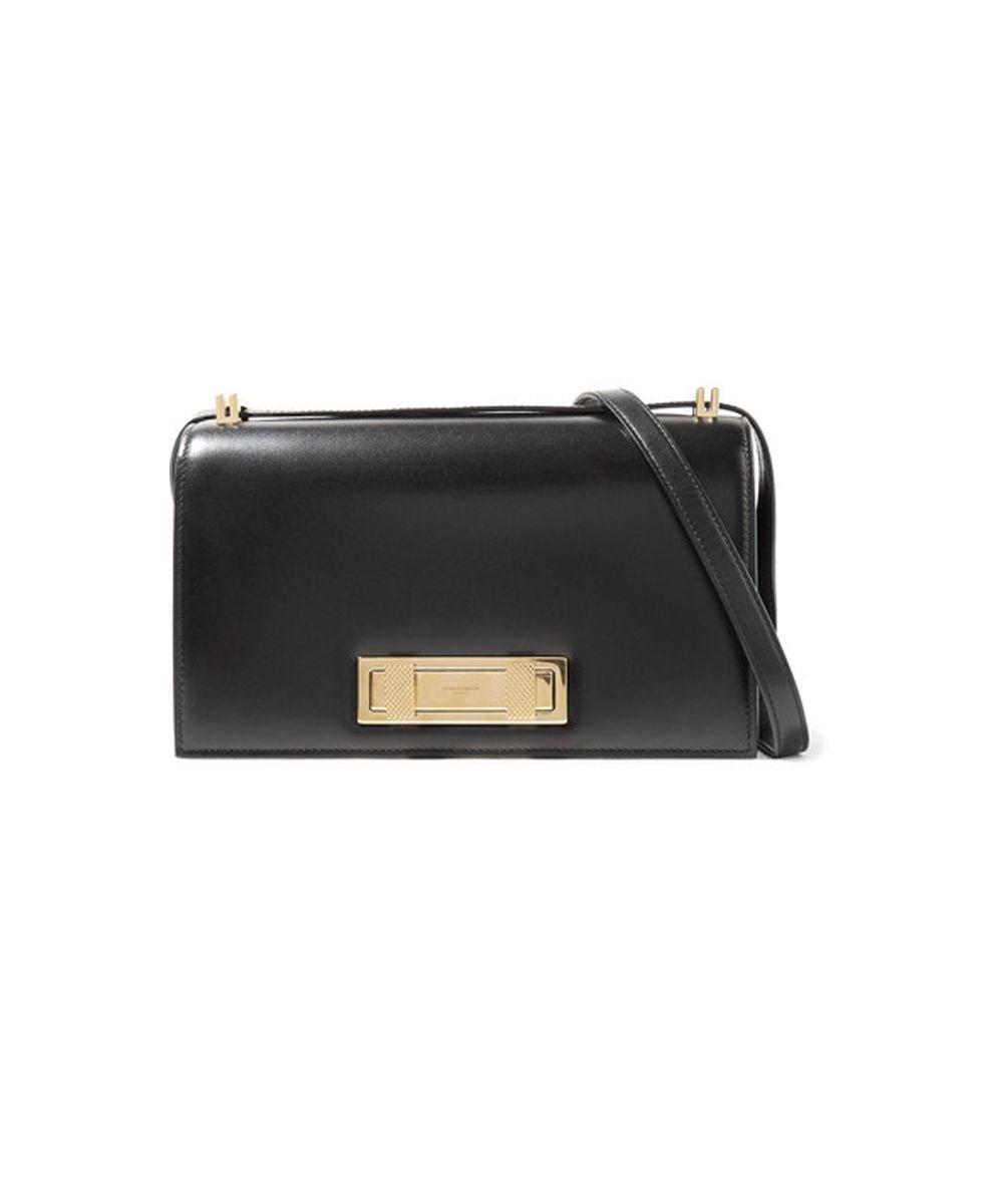 SAINT LAURENT Domino leather shoulder bag