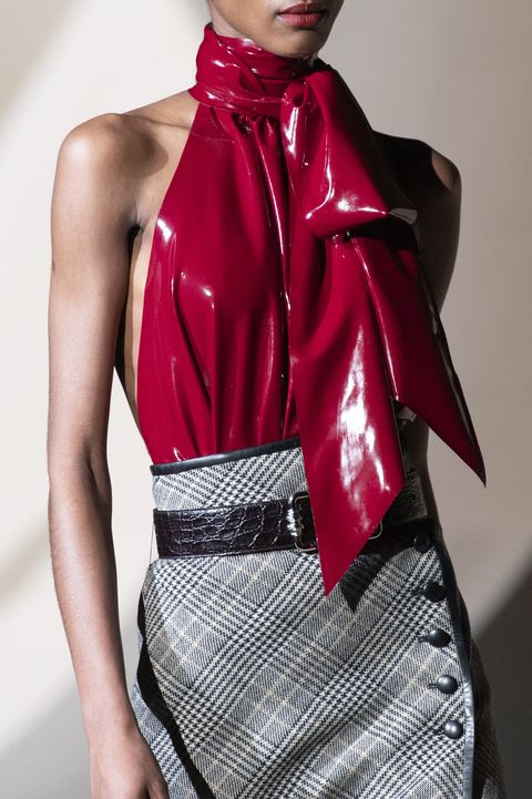 Clothing, Fashion model, Fashion, Latex clothing, Pink, Haute couture, Latex, Outerwear, Leather, Shoulder,