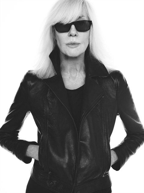 Eyewear, Black, Jacket, White, Clothing, Leather, Leather jacket, Outerwear, Sunglasses, Cool,