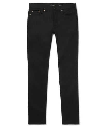SAINT LAUREN skinny jeans negros, pantalones negros skinny hombre