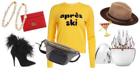 Clothing, Yellow, Font, Fashion, Headgear, Cap, Sleeve, Footwear, T-shirt, Waist,