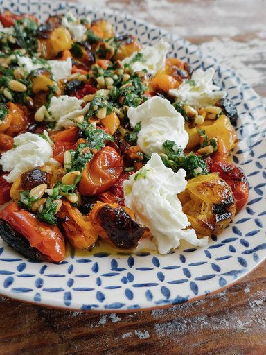 Enjoy an elevated twist on a classic tomato and mozzarella salad