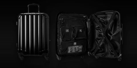 Black, Suitcase, Baggage, Hand luggage, Luggage and bags, Bag, Rolling, Monochrome, Darkness, Still life photography,