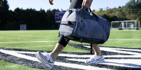 Joint, Shoulder, Knee, Sports training, Sports gear, Sportswear, Sports, Grass, Sports equipment, Human leg,