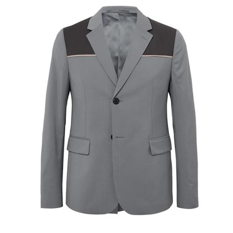 Clothing, Outerwear, Suit, Blazer, Jacket, Formal wear, Sleeve, Collar, Tuxedo, Button,