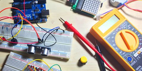 Breadboard, Circuit component, Electronic engineering, Circuit prototyping, Electrical network, Electronics, Transistor, Microcontroller, Technology, Electronic device,