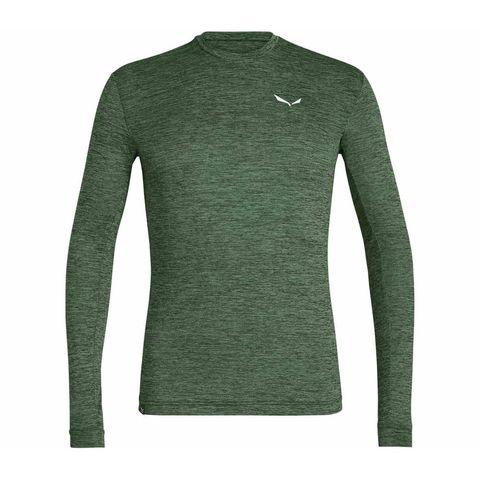 salewa groen gemeleerd hardloopshirt