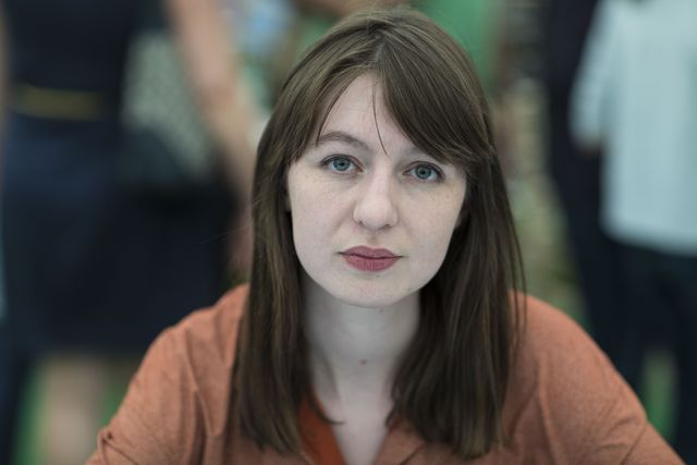 hay on wye, united kingdom   may 28  sally rooney, novelist, at the hay festival on may 28, 2017 in hay on wye, united kingdom  photo by david levensongetty images