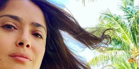 Salma Hayek Responds To Botox Rumors On Instagram After a Fan Criticized Her Selfie