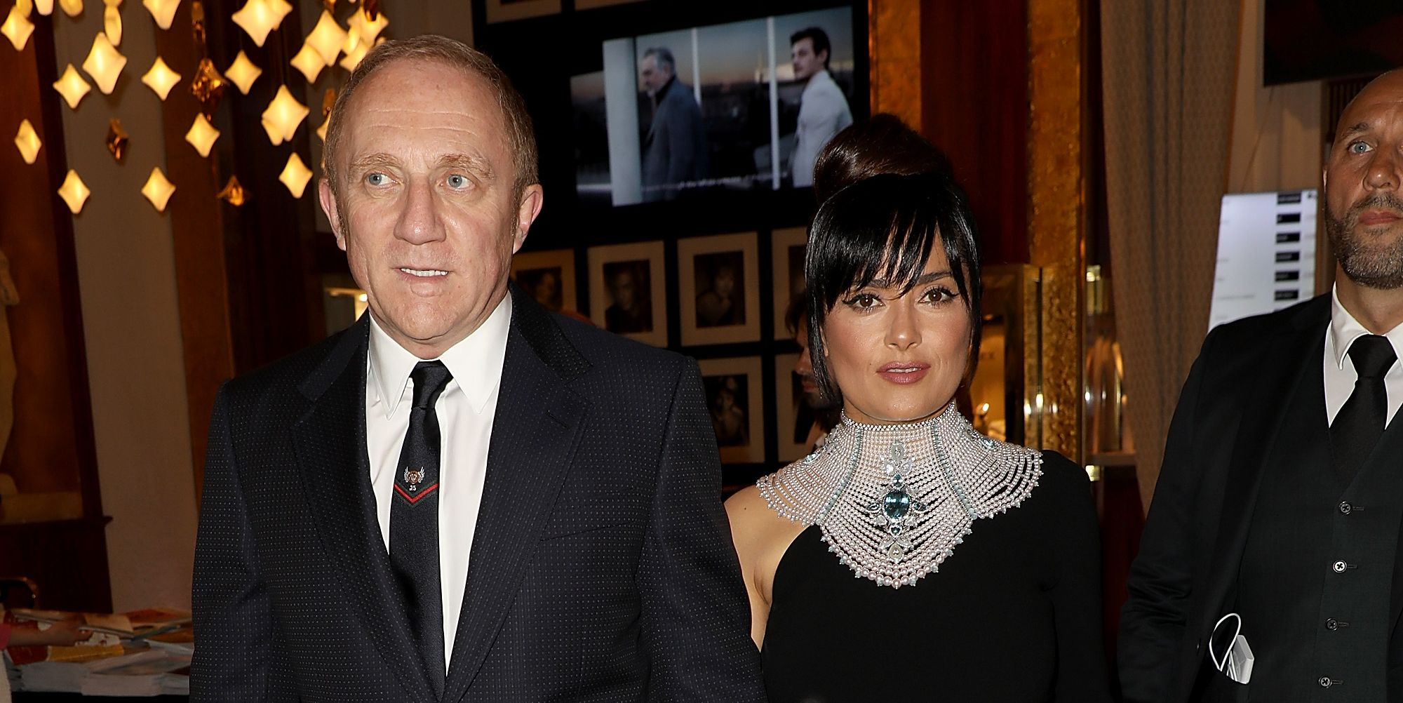"Salma Hayek and François-Henri Pinault The pair were set up back in 2006 and the blind date could not have started off worse. ""I didn't know it was a date,"" the actress told Latina ."