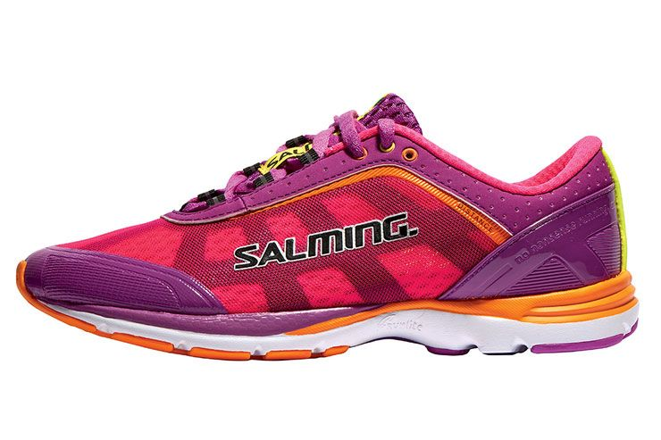 Salming Speed 3 Womens Running Shoes Cushioned Ladies Trainers Blue Pink