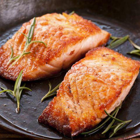 Salmon Steak in Fryer