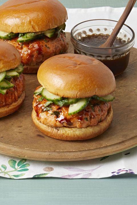 salmon recipes burgers sesame soy glaze