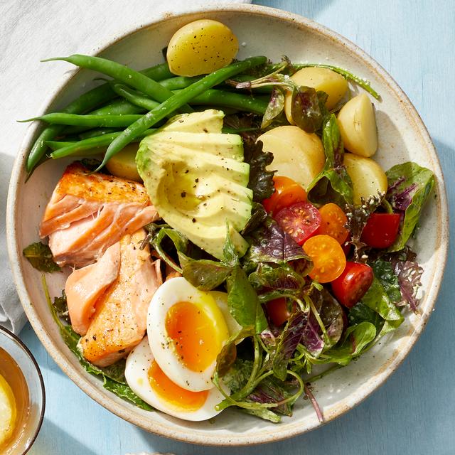 salmon salad with green goddess dressing recipe