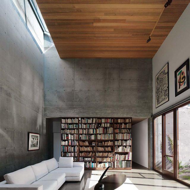 madera y hormigón son los sellos de identidad de esta vivienda