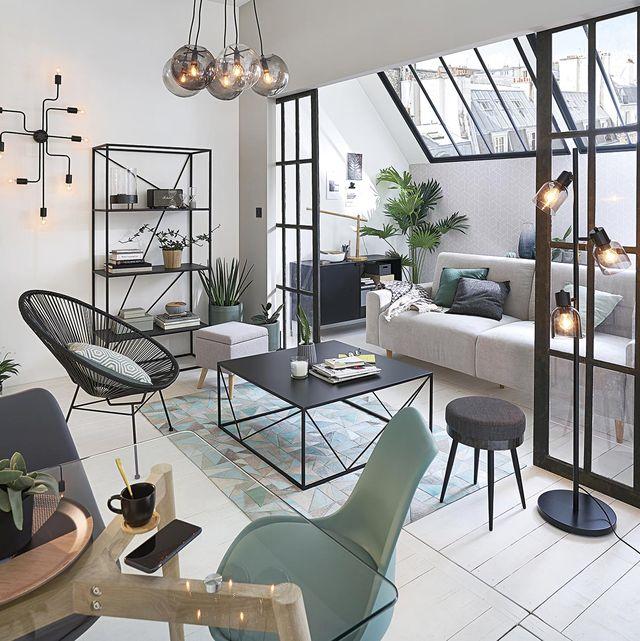 espacios integrados salón con terraza cerrada