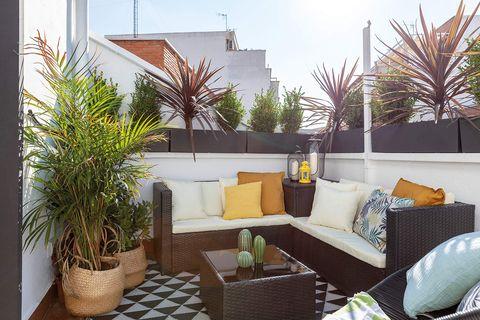 Ático reformado en Madrid: terraza