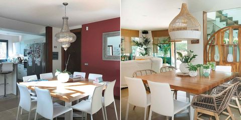 salón comedor moderno antes y después