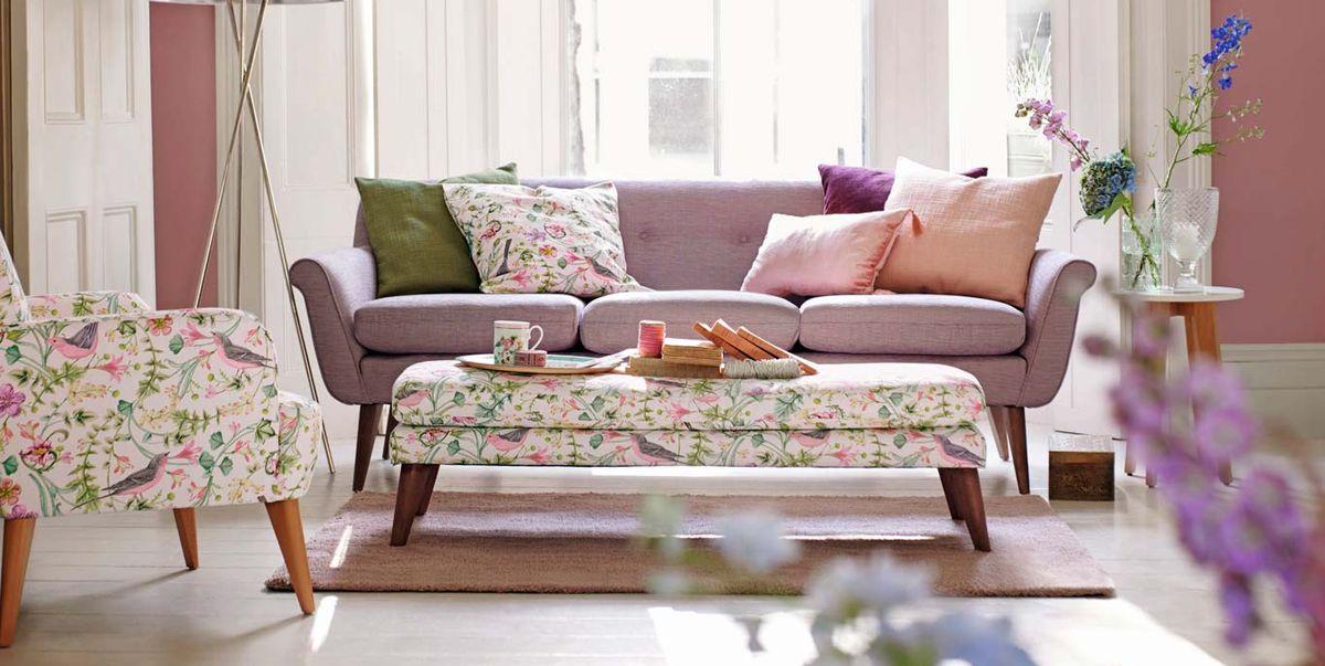 C mo combinar el sof con pufs mecedoras y butacas - Mesas para el sofa ...