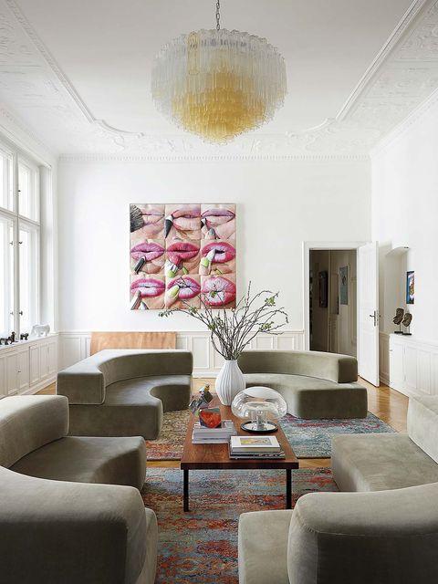 Salón de lacasa de la galerista Marta Gnyp
