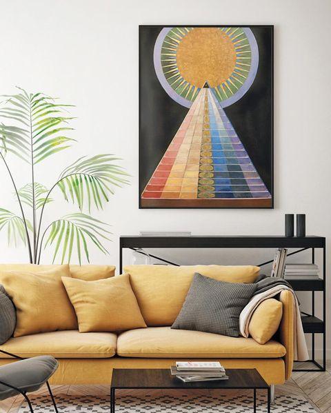 salón decorado con cuadro de posterlounge