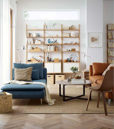 Salón de estilo urbano con chaise longue