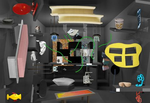 Room, Animation, Toy, Graphic design, Illustration, Interior design, Games, Space, Fictional character, 3d modeling,