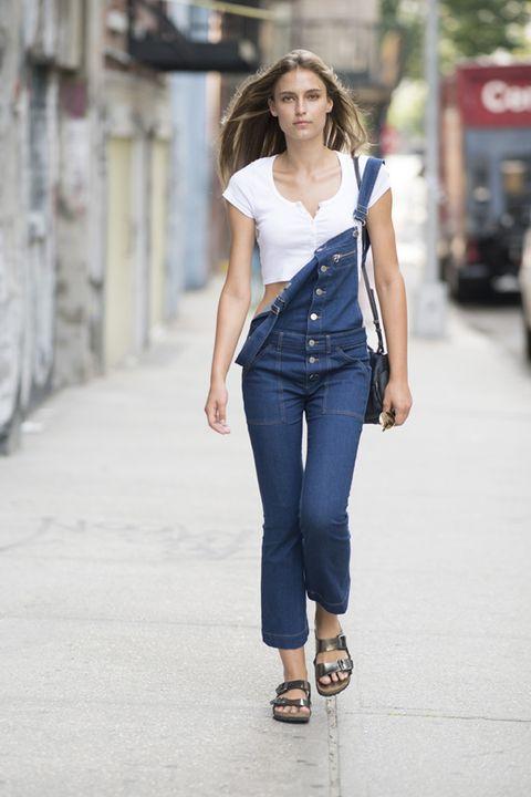 salopette jeans estate 2018 street style New York