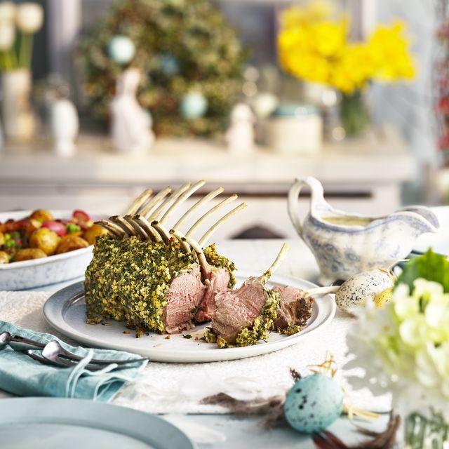 best lamb recipes crumbed lamb guard of honour with quick mint gravy