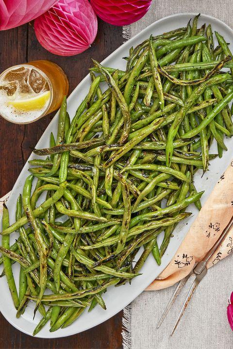 charred green beans recipe