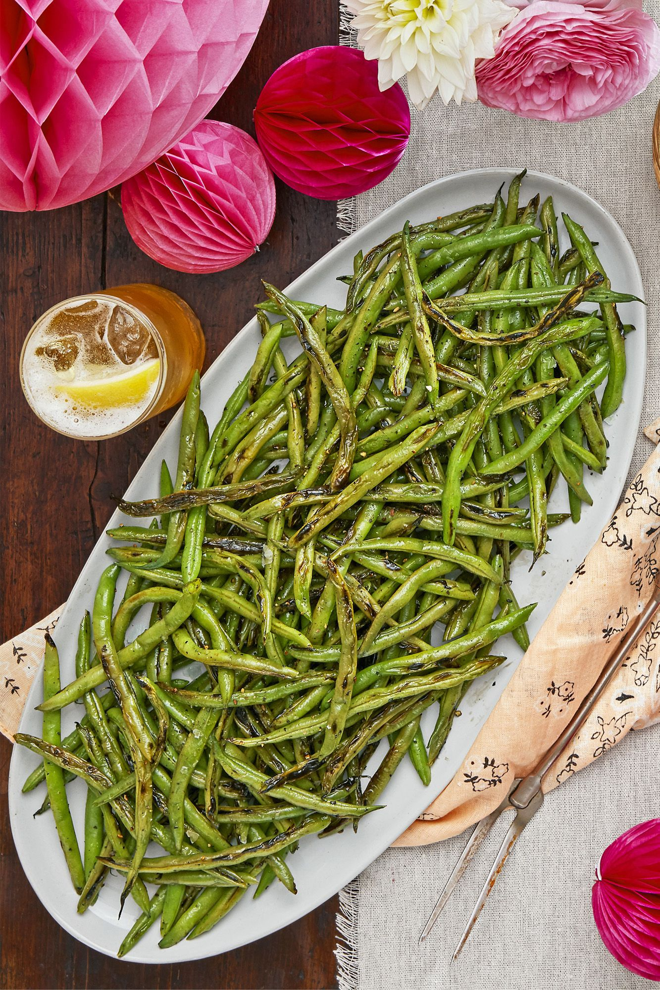 salt and pepper charred green beans recipe