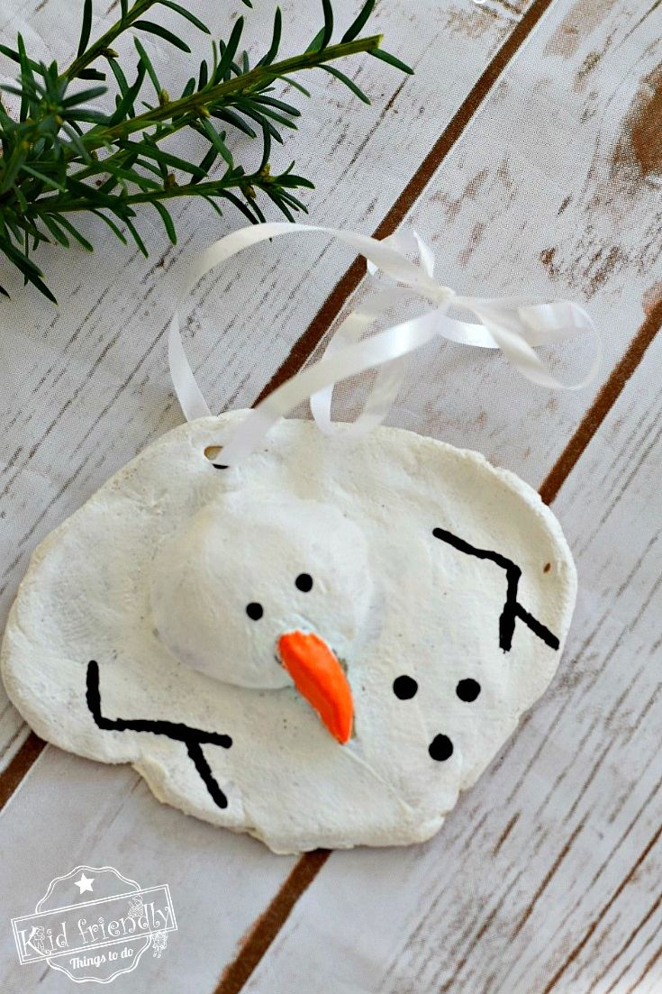 salt dough ornament ideas snowman