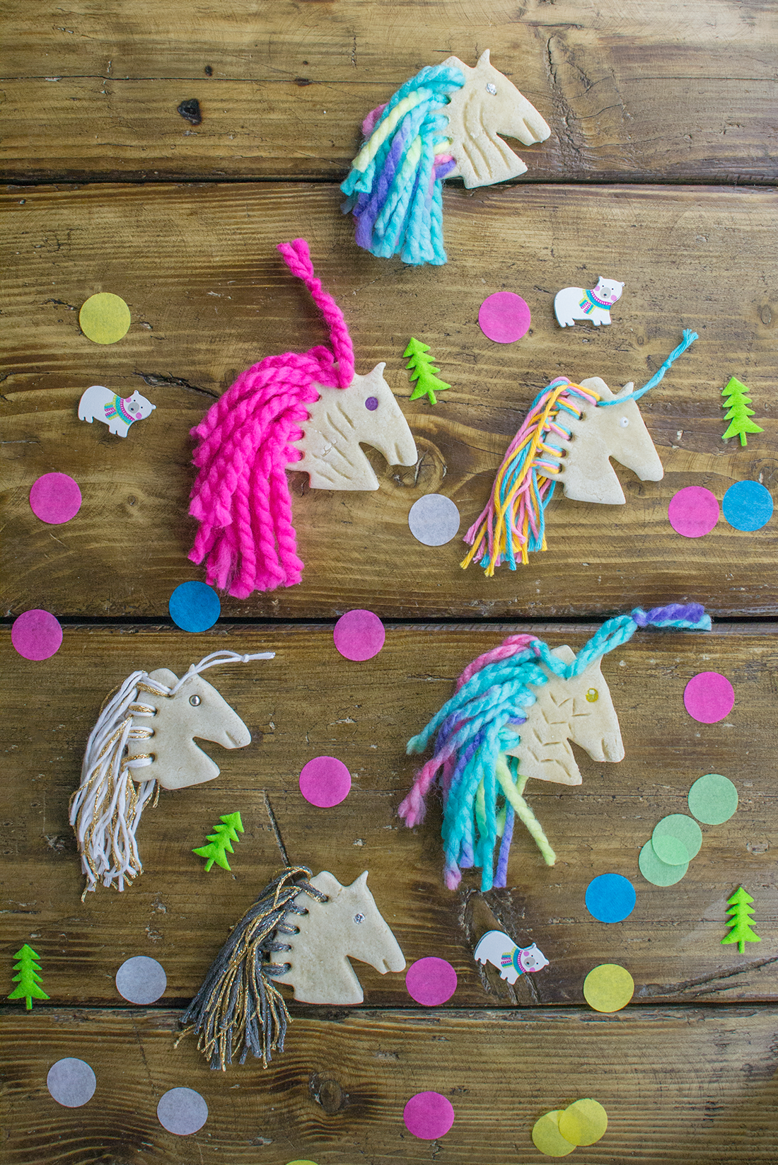 salt dough ornament ideas unicorn