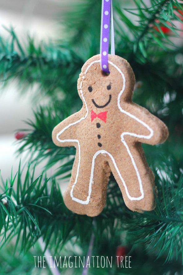 salt dough ornaments gingerbread