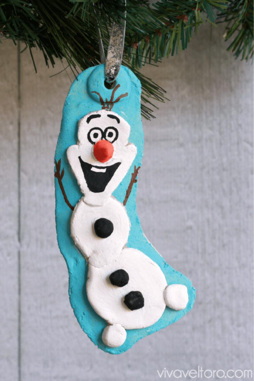 salt dough ornaments olaf