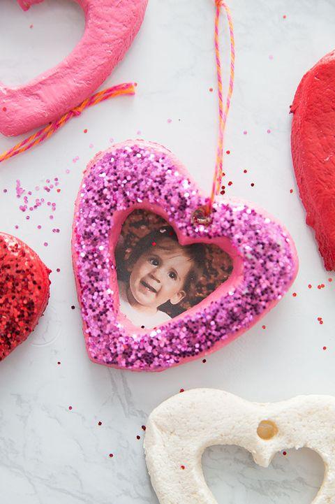 valentine's day heart crafts salt dough