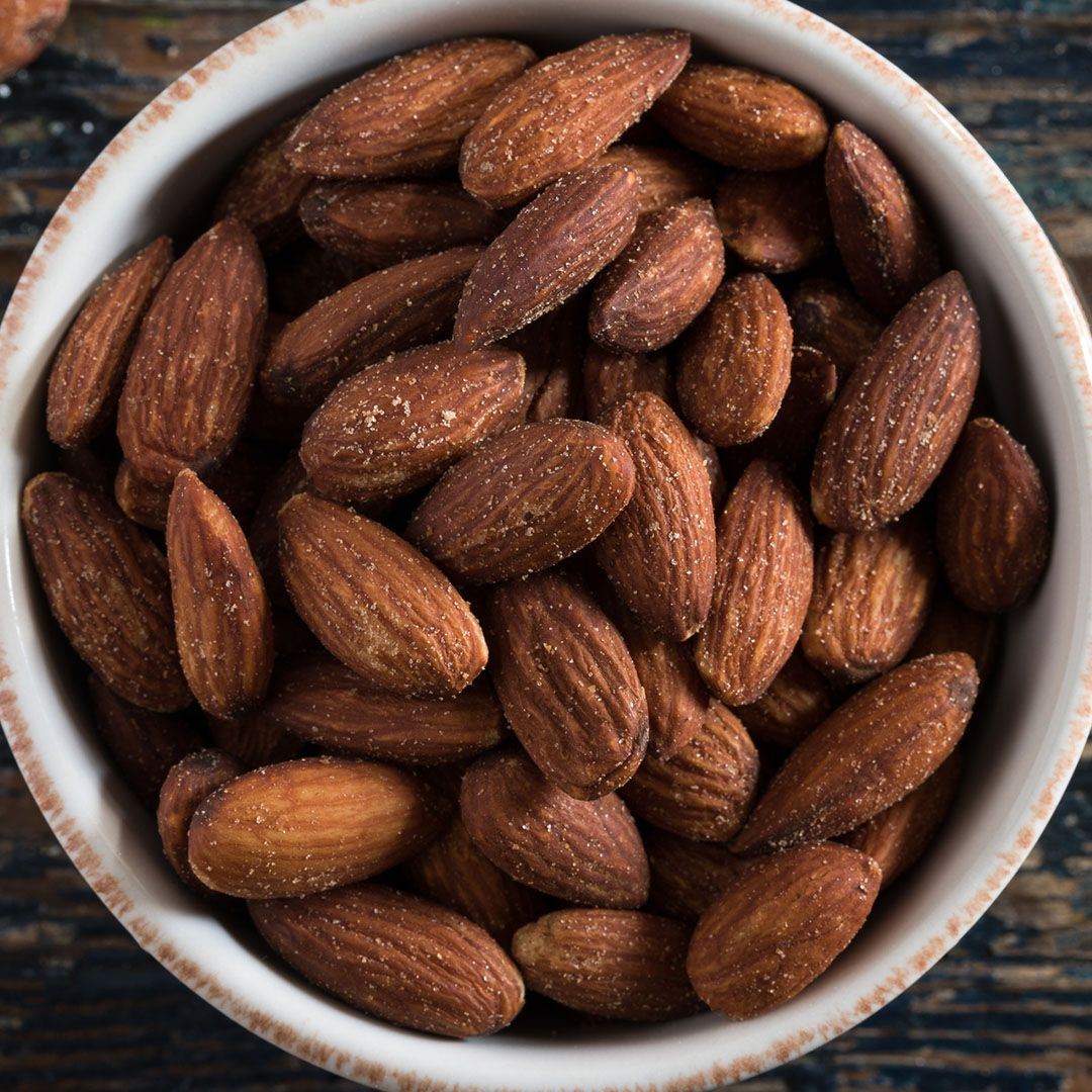 salted almonds in bowl