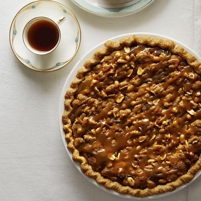 salted caramel peanut butter fudge chocolate pie recipe
