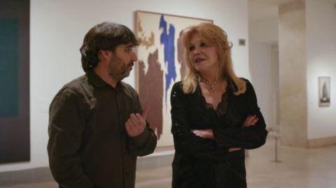 Jordi Évole, con Tita Cervera en el museo Thyssen en 'Salvados'