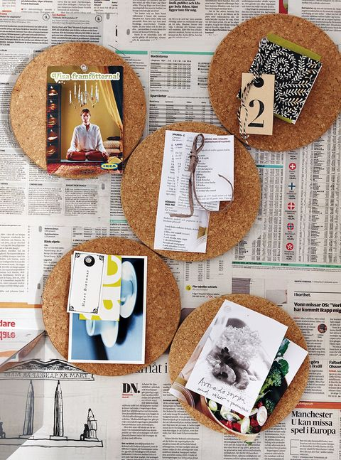 ideas para decorar la pared con corcho