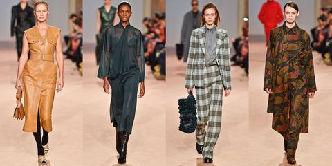 Fashion, Tartan, Clothing, Fashion model, Pattern, Plaid, Runway, Fashion show, Military camouflage, Design,