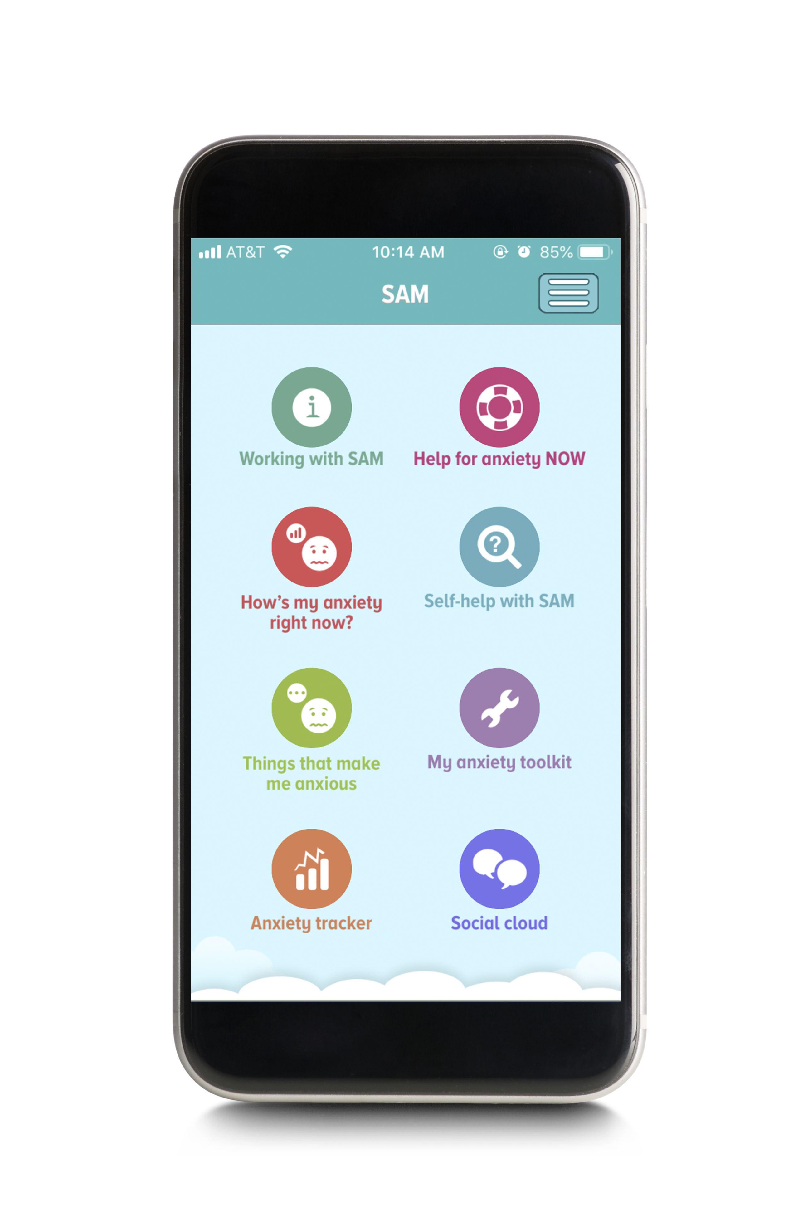 SAM anxiety app
